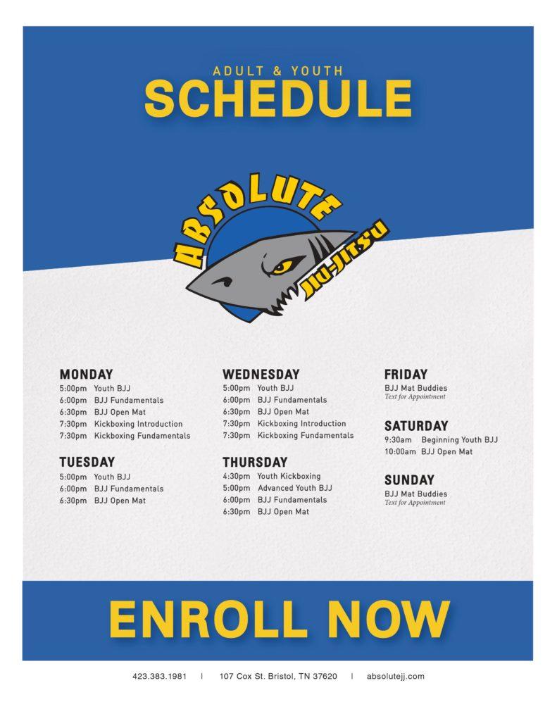 AJJ Class Schedule 2020
